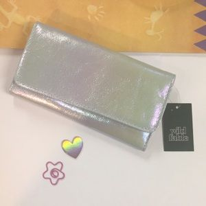 Wild Fable iridescent green wallet & card holder